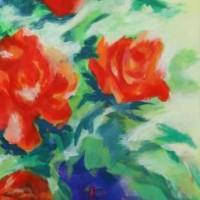Die blaue Vase 꽃병